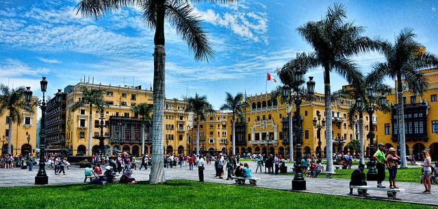 Plaza de Armas de Lima por Mariano Mantel