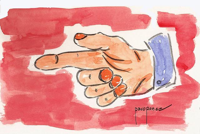El dedo de acusar