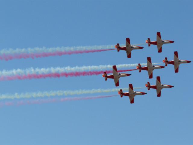 Patrulla Águila. Fotografía (cc) de Gonzalo Malpartida en Flickr