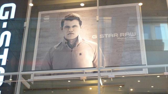 Magnus Carlsen Billboard Stockholm
