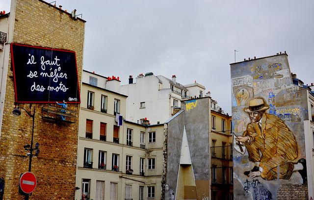 Déco mural rue de belleville à Paris 20è