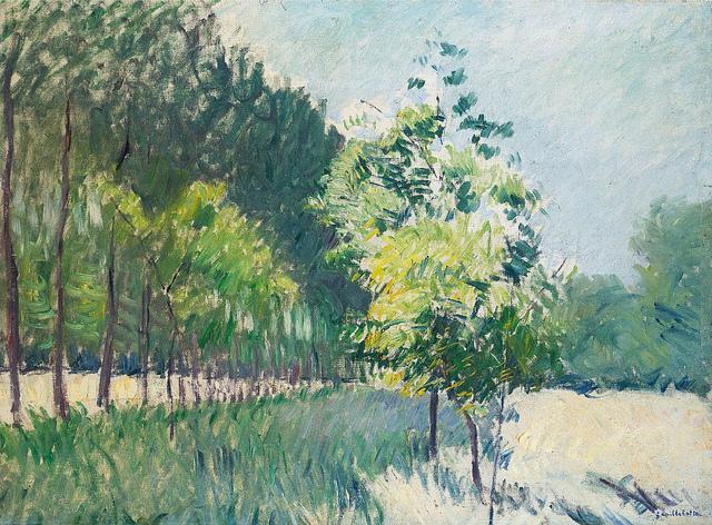 [ C ] Gustave Caillebotte - Allée bordée d'arbres (1890)