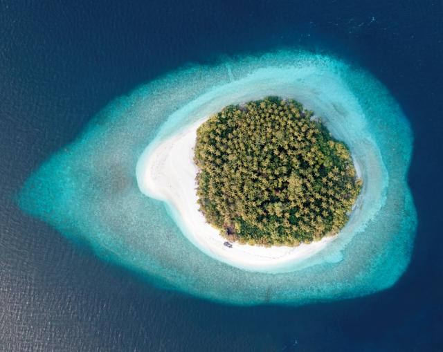 Isla desierta Maldivas