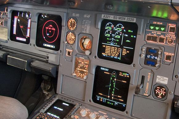 Cabina de un A321