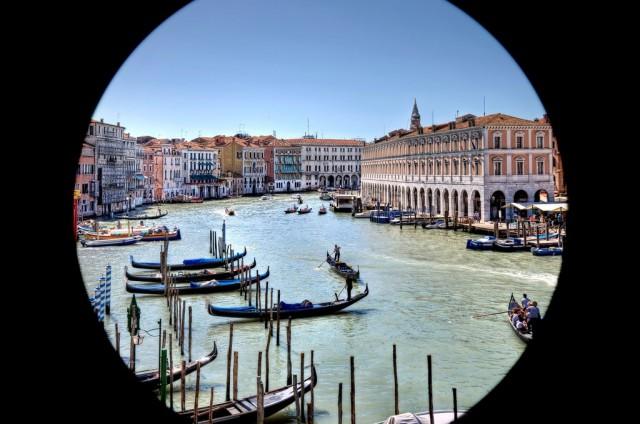 Gran Canal de Venecia, en Italia