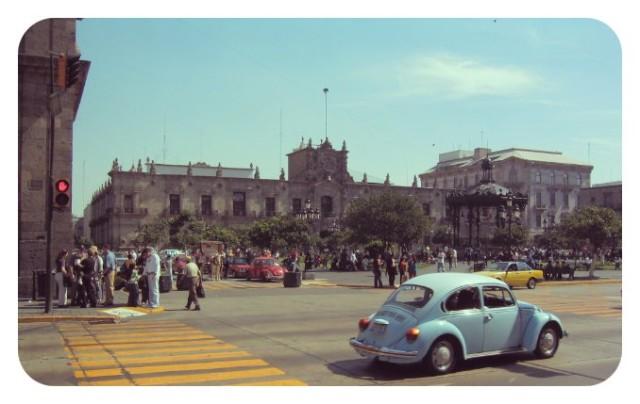 Zona centro de Guadalajara, en México