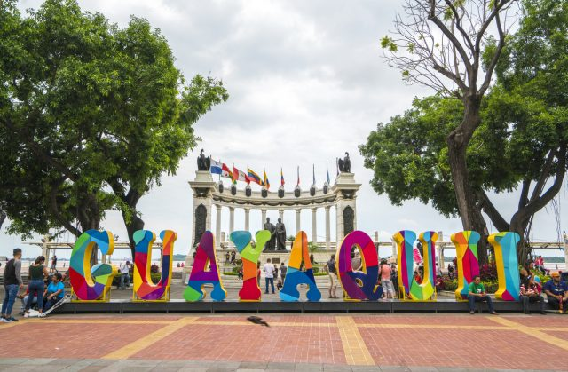 Hemiciclo de la rotonda Malecon 2000 Guayaquil Ecuador