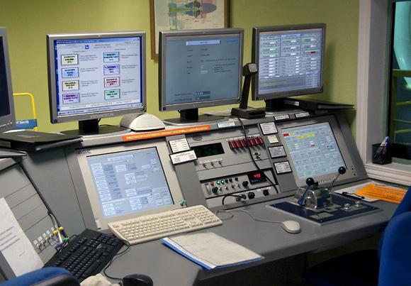 Panel de control del banco de pruebas