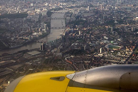 Llegando a Londres