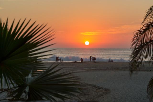 Puerto-Escondido-Oaxaca-Mexico-Playa-Atardecer