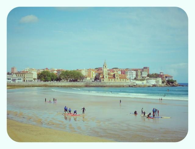Playa de San Lorenzo en Gijón, Asturias