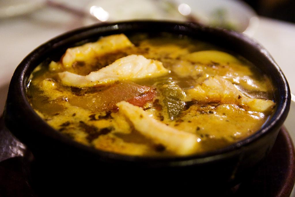 Conger eel chowder at Ana Maria restaurant in Santiago de Chile roboppy on Flickr