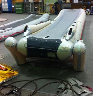 Iberia inflatable evacuation slide