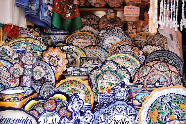 ceramics in Talavera, Mexico - RussBowling Flickr