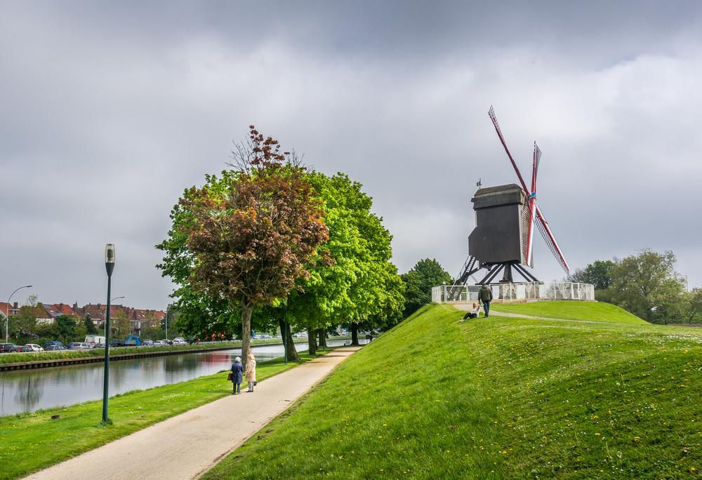 Belgium Bruges windmill Alxcrs Shutterstock