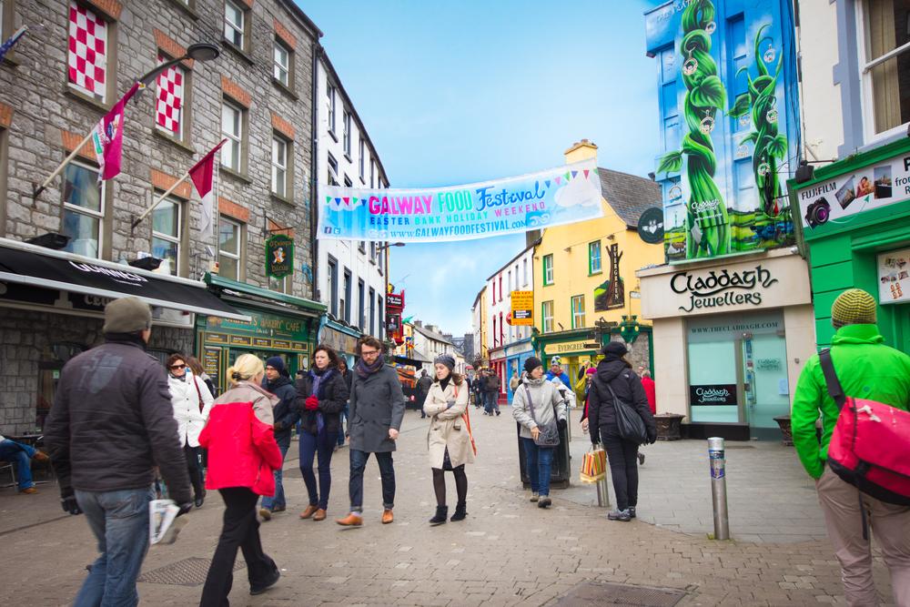Ireland Galway street scene Shutterstock littleny