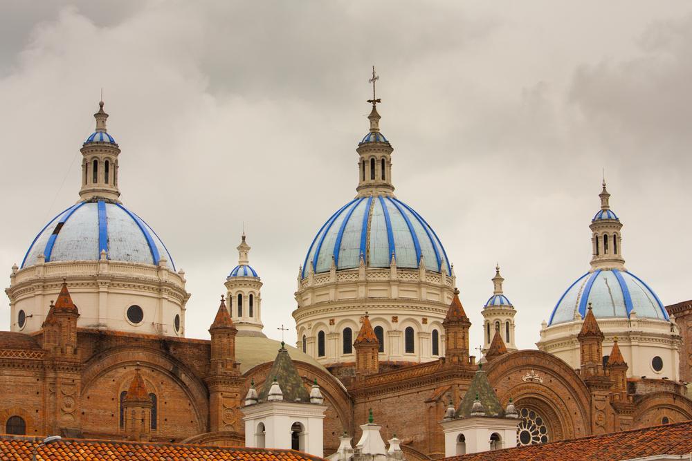 Cuenca, Ecuador church domes - sherwood shutterstock_151223558