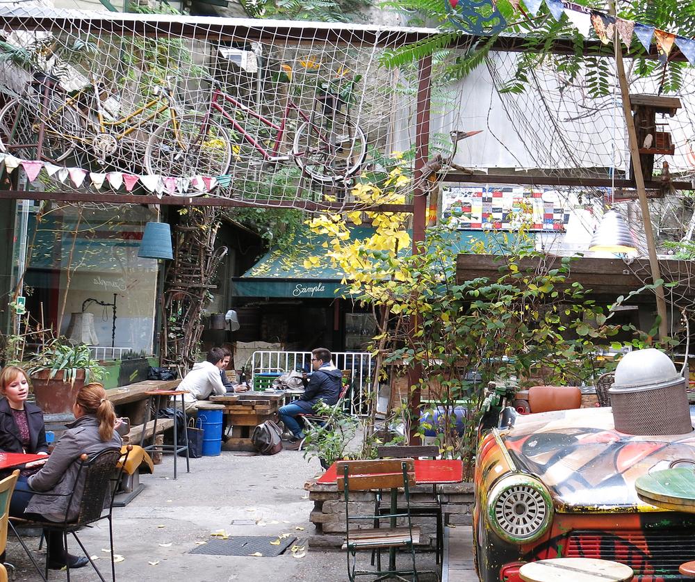 Budapest, Hungary ruin pub Szimpla Kert - Aija Lehtonen shutterstock_159678320