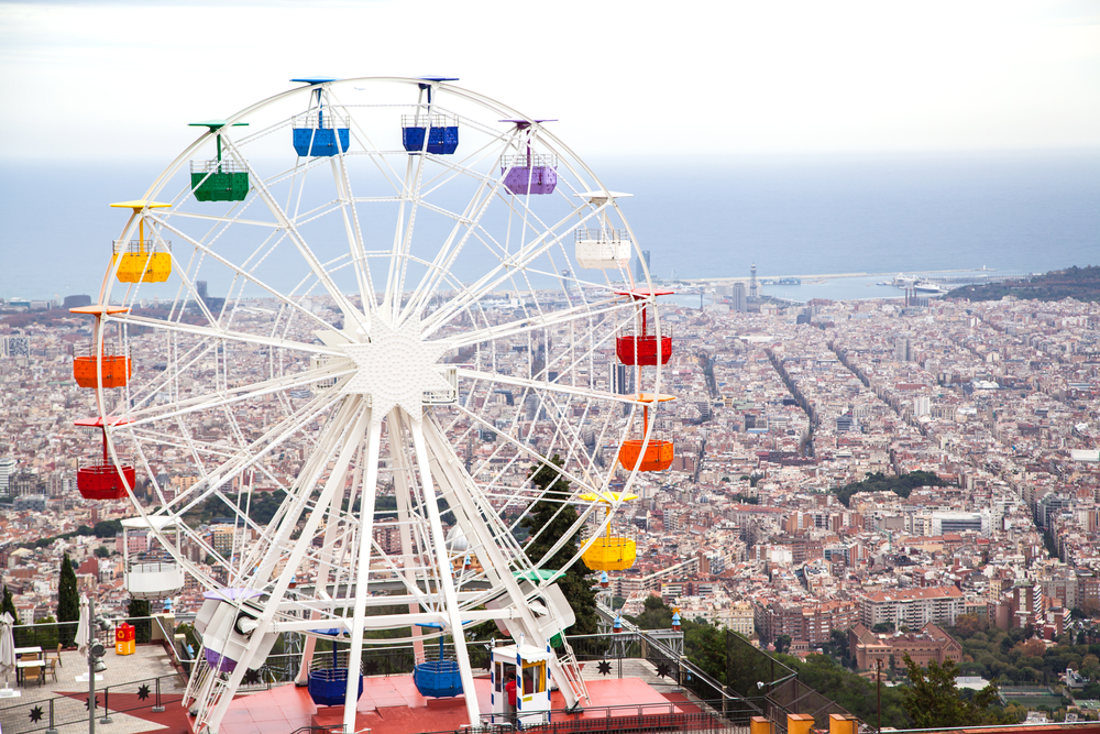 family travel Europe Spain Catalonia Barcelona Tibidabo eclypse78 shutterstock_260696864