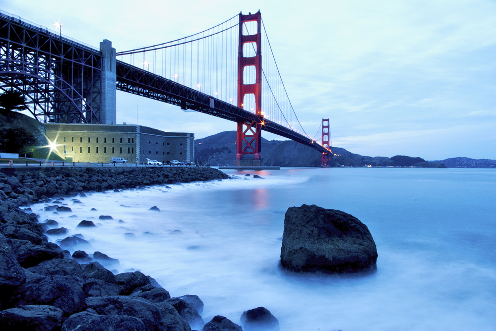 Presidio & Golden Gate Bridge, San Francisco California - RRuntsch shutterstock_94528795