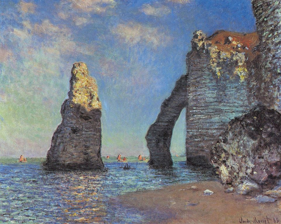 Claude Monet painting Cliffs at Étretat After the Storm - Normandy, France - Wikipedia