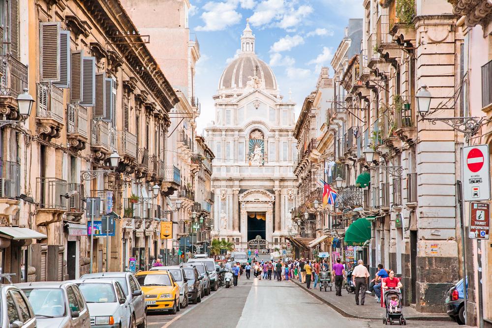 Catania street/cathedral, Sicily, Italy - Aleksandar Todorovic shutterstock_266847380