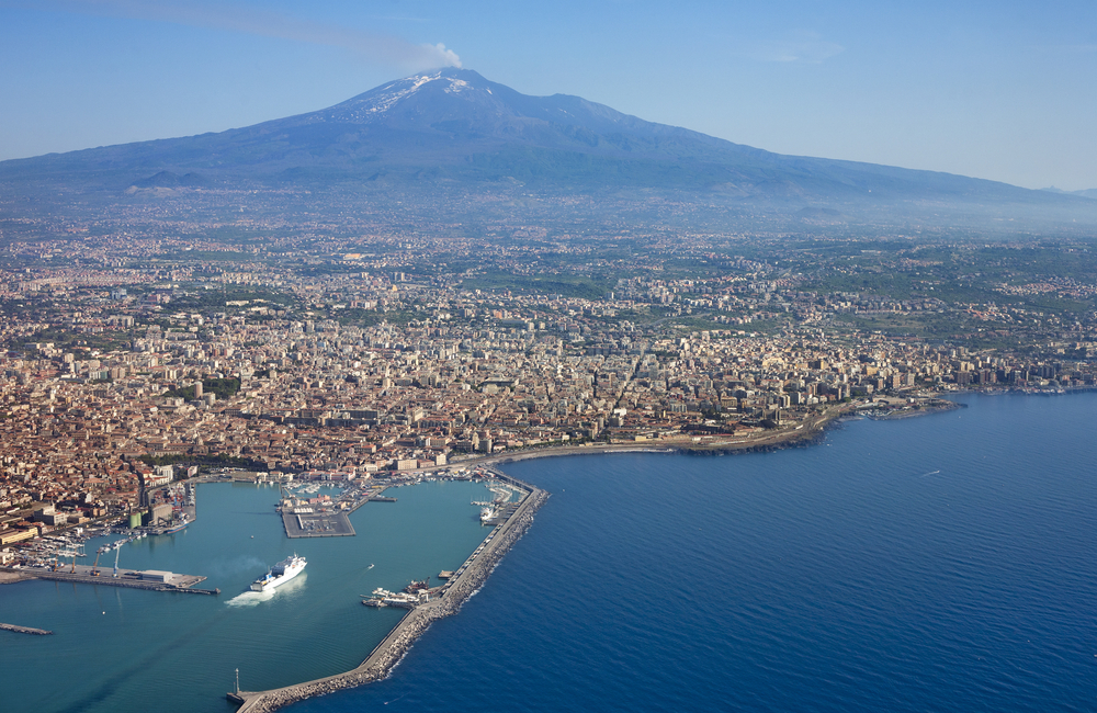 Overview of Catania, Sicily, Italy with Mt. Etna andras_csontos shutterstock_103209671