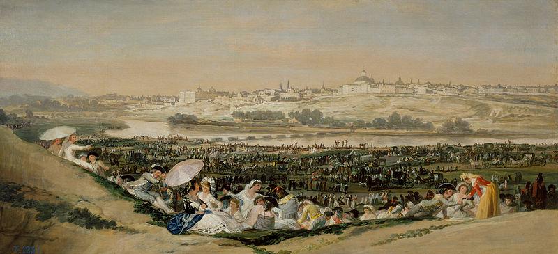 La Pradera de San Isidro - Francisco de Goya - MuseoDelPrado.es