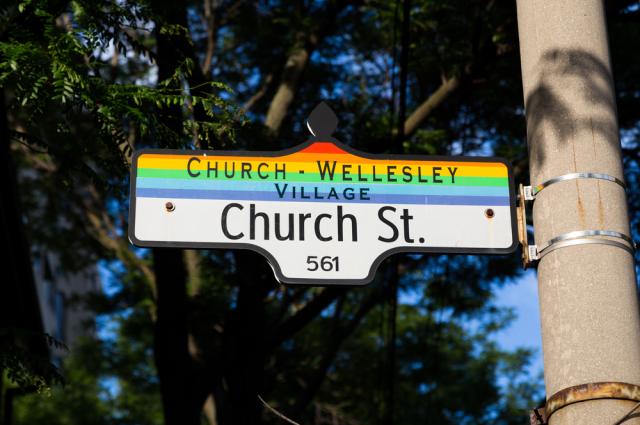 Gay street sign in Toronto