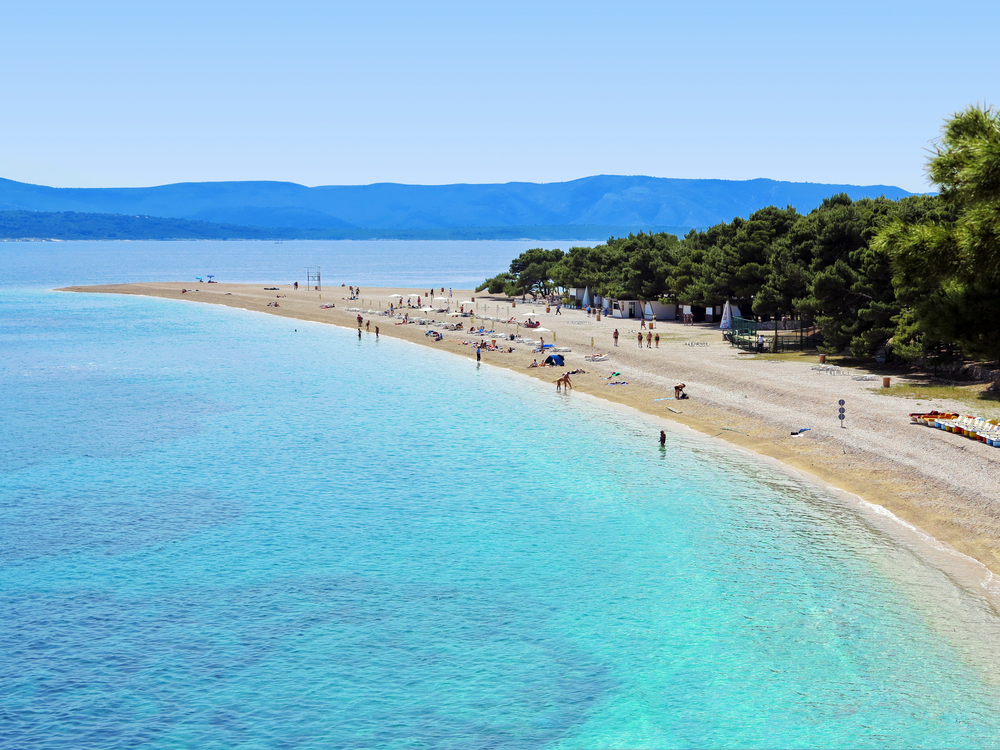 Europe Croatia beaches Zlatni Rat shutterstock_106732985