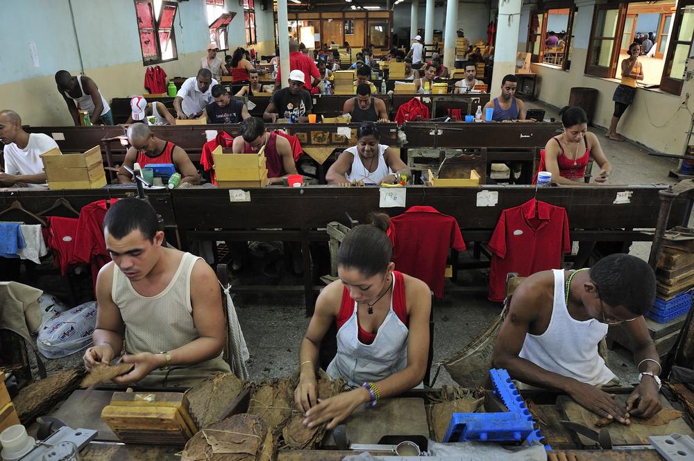 Havana ,Cuba -  Partagás cigar factory - T photography shutterstock_209224075