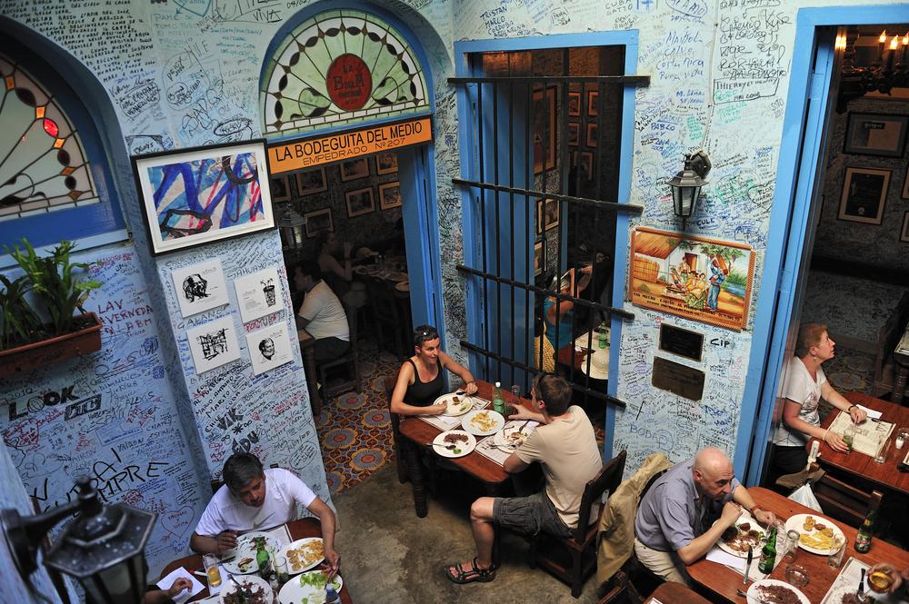 Havana, Cuba - Bodeguita del Medio restaurant-bar - T photography shutterstock_209254996