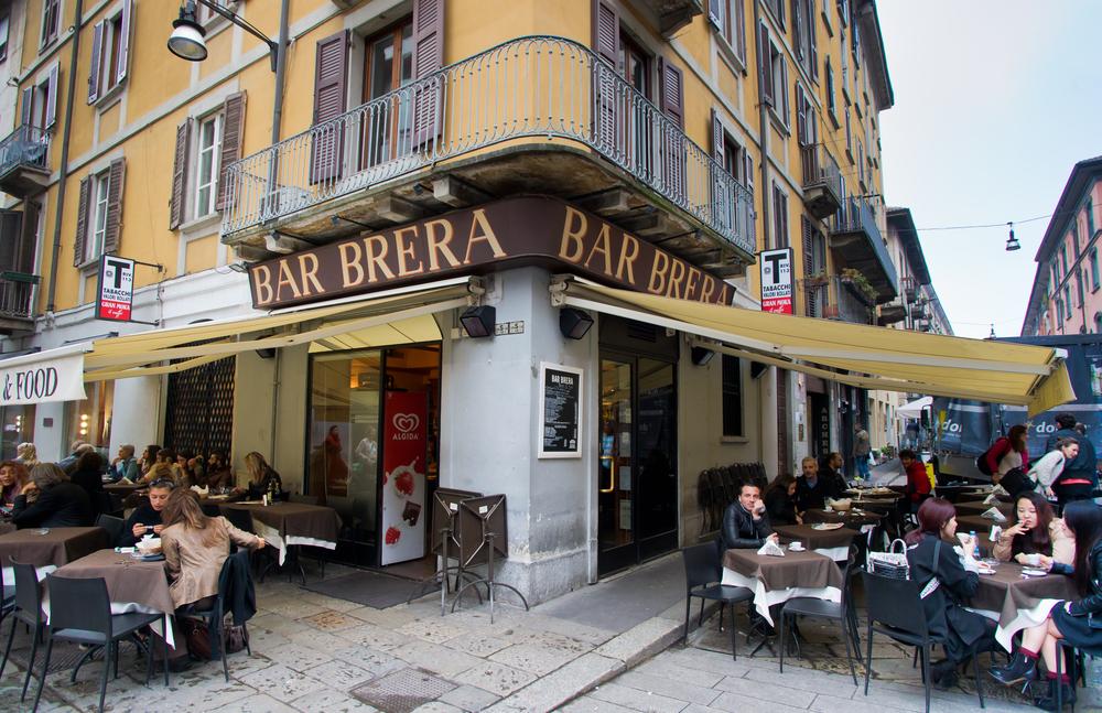 Italy Milan Brera restaurant Boris-B shutterstock_237211840