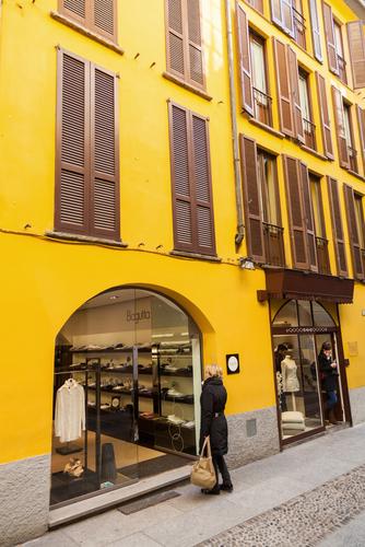 Italy Milan Brera shopping boutique Christian Mueller shutterstock_181905266