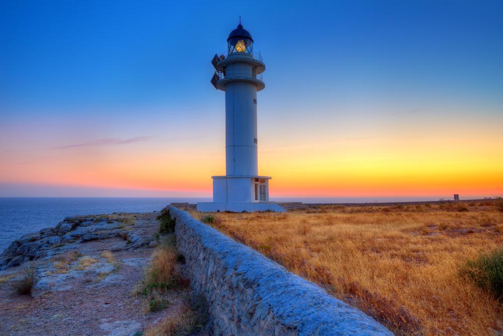 lighthouse on Formentera, Balearic Islands, Spain - holbox shutterstock_185531699