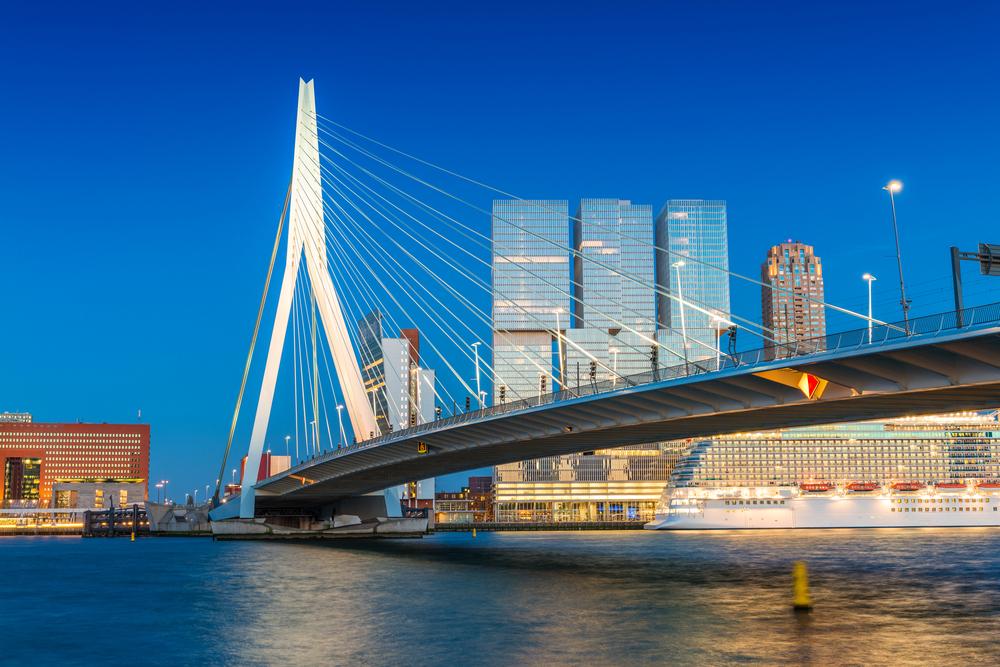 Netherlands Rotterdam Erasmus Bridge - CristinaMuraca shutterstock_275436803