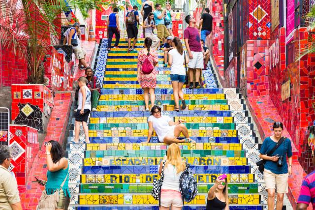 Brazil Rio de Janeiro Lapa Escadaria Selarón Steps Filipe Frazao shutterstock_234399472