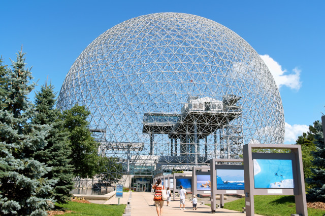 Canada Quebec Montreal Parc Jean Drapeau biosphere geodisic dome environment museum Massimiliano Pieraccini shutterstock_119024359