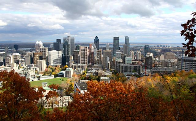 Canada Quebec Montreal skyline from Mount Royal Park Alphonse Tran shutterstock_2073662