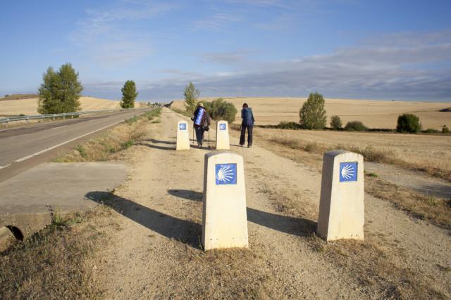 Spain Way of St James Camino de Santiago pilgrims - bepsy shutterstock_77120035