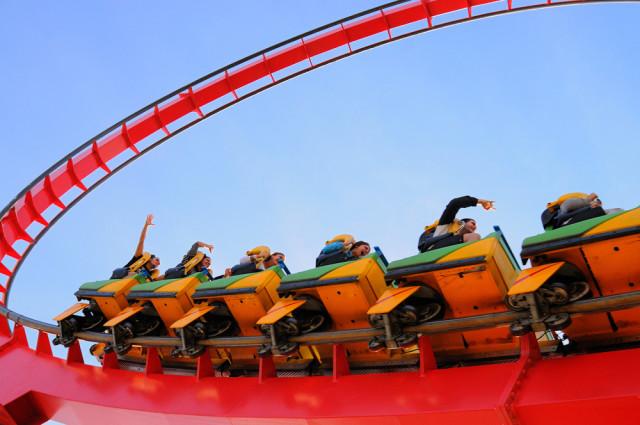 Spain theme parks Port Aventura Dragon Khan roller coaster Christian Bertrand shutterstock_164605751