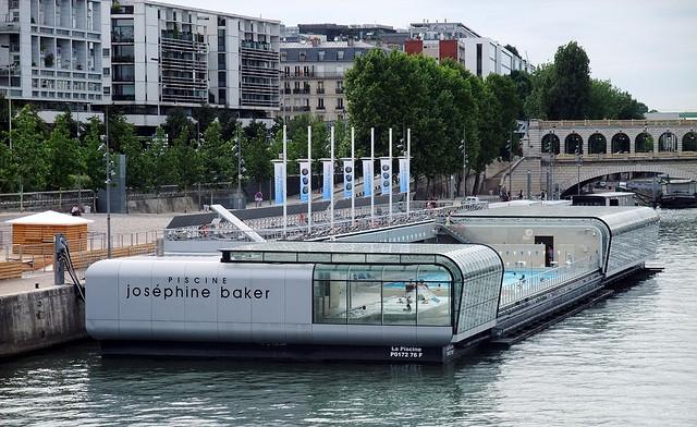 pools France Paris Piscine Josphine Baker carbide Flickr