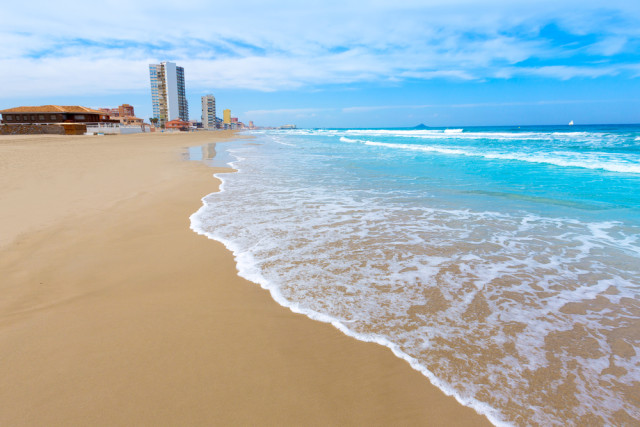 Spain Murcia la Manga del Mar Menor beach - holbox shutterstock_221212165