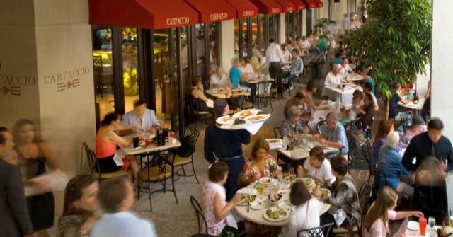 USA Florida Miami Bal Harbour Shops Carpaccio beautiful people restaurants