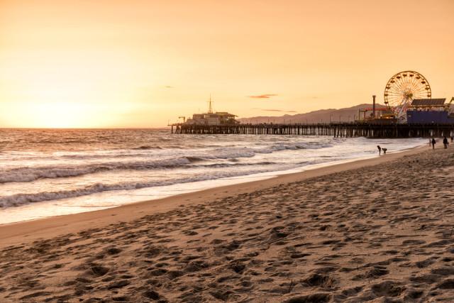 USA beaches CA Santa Monica senai aksoy shutterstock_266991053