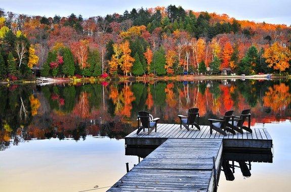 USA New England fall foliage Rhode Island