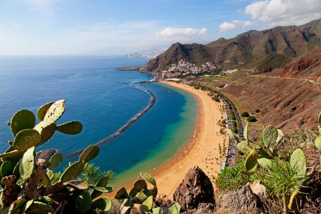 budget travel Canary Islands Spain Las Teresitas Beach VICTOR TORRES shutterstock_124354447