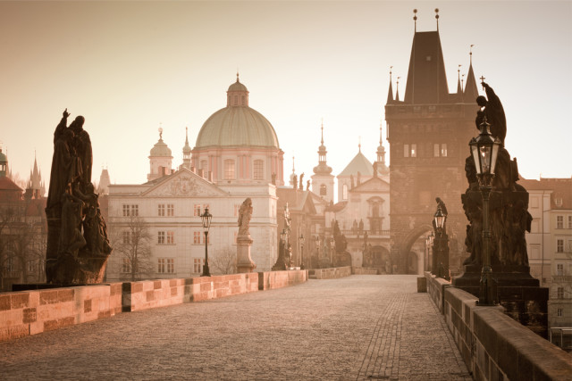 budget travel Prague Czech Republic Charles Bridge Semen Kuzmin shutterstock_96142181