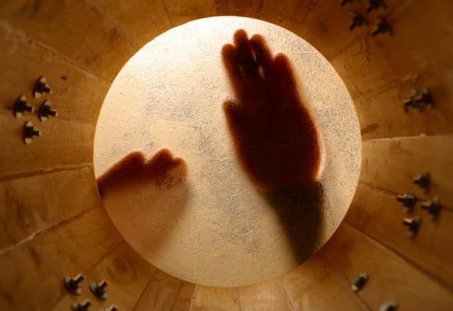 world music giants bongo drum from inside dubassy shutterstock_2621960