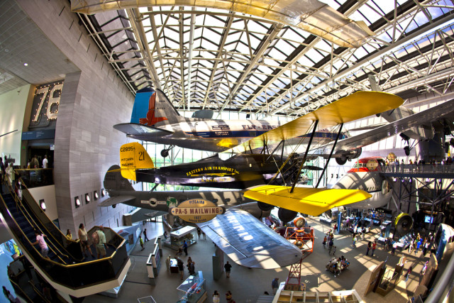 aviation museum Smithsonian Air and Space Washington DC shutterstock_69086245